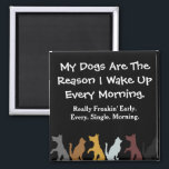 "My Dogs Wake Me Up Magnet<br><div class=""desc"">Who needs an alarm clock when you have doggies!!!</div>"