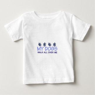 My Dogs Walk Baby T-Shirt
