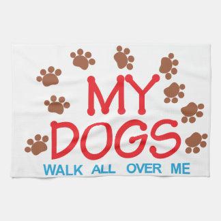 My Dogs Walk Kitchen Towel