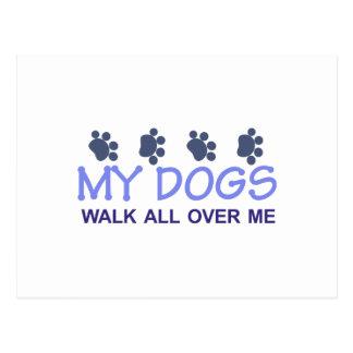 My Dogs Walk Postcard