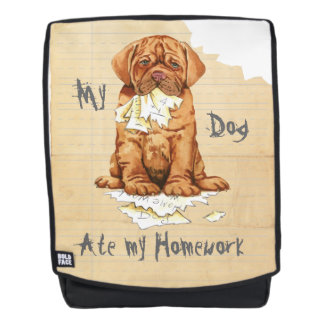 My Dogue de Bordeaux Ate my Homework Backpack
