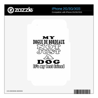 My Dogue de Bordeaux Not Just A Dog Decal For The iPhone 3G