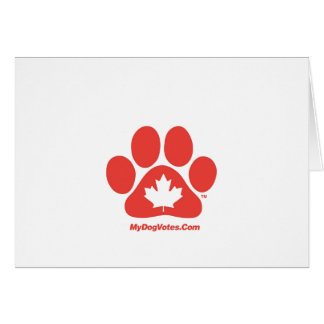 My DogVotes Canadian Notecards Greeting Card