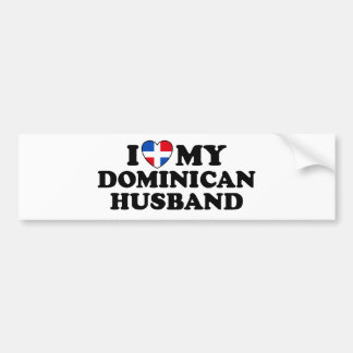 My Dominican Husband Bumper Sticker