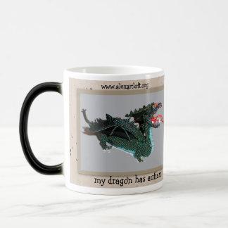 My dragon has autism 11 oz magic heat Color-Changing coffee mug