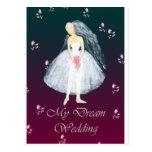 My dream wedding postcard
