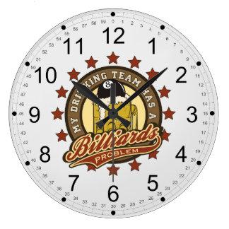 My Drinking Team has a Billiards Problem Large Clock