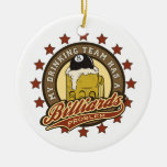 My Drinking Team has a Billiards Problem Double-Sided Ceramic Round Christmas Ornament