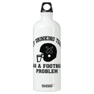My Drinking Team Has A Football Problem Aluminum Water Bottle