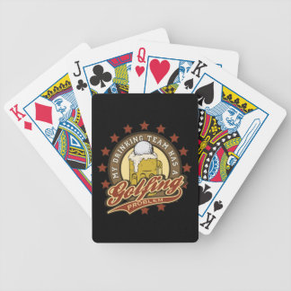 My Drinking Team has a Golfing Problem Bicycle Playing Cards