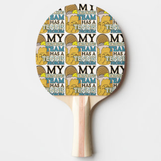 My Drinking Team has a Tennis Problem Ping-Pong Paddle
