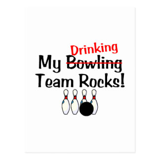 My Drinking Team Rocks Postcard