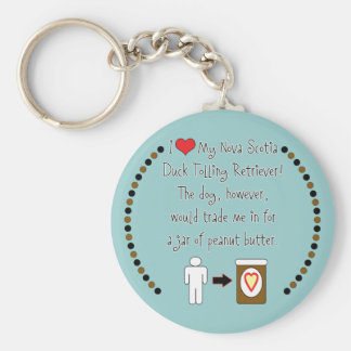 My Duck Tolling Retriever Loves Peanut Butter Keychain