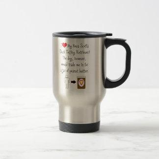 My Duck Tolling Retriever Loves Peanut Butter 15 Oz Stainless Steel Travel Mug