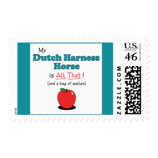 My Dutch Harness Horse is All That! Funny Horse Postage