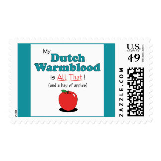 My Dutch Warmblood is All That! Funny Horse Postage Stamps