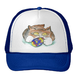 My Easter Egg, says kitten. Trucker Hat