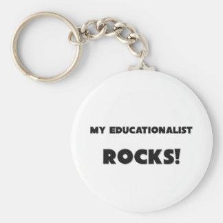 MY Educationalist ROCKS! Basic Round Button Keychain