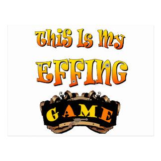 my effing game postcard