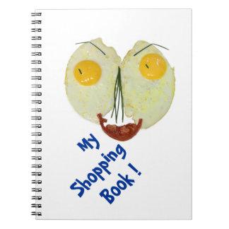 my egg face shopping book spiral notebook