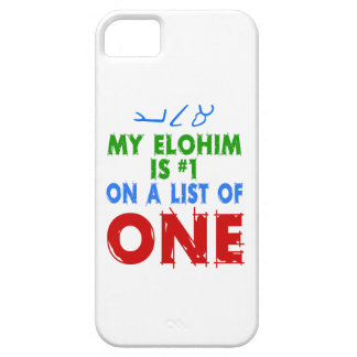 My Elohim Is #1 On A List of One iPhone SE/5/5s Case