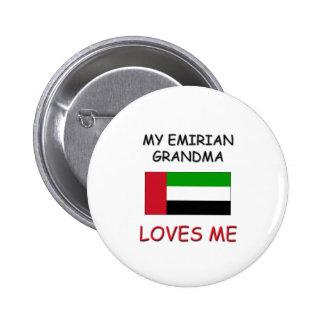 My Emirian Grandma Loves Me Pinback Buttons