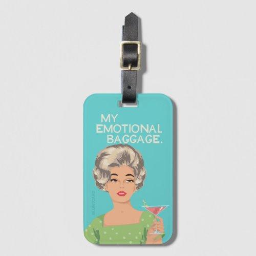 My emotional baggage luggage tag