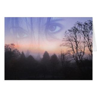 My Emotive Landscape - Self Portrait Card