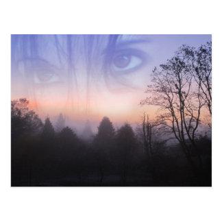 My Emotive Landscape - Self Portrait Postcard