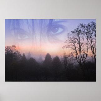 My Emotive Landscape - Self Portrait Poster