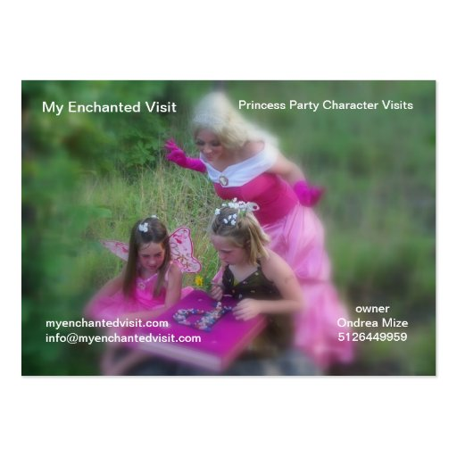My Enchanted Visit Business Card Template