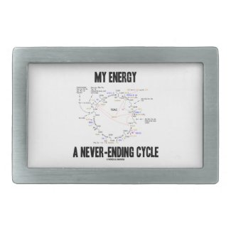 My Energy A Never-Ending Cycle (Krebs Cycle) Belt Buckles