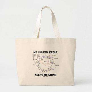 My Energy Cycle Keeps Me Going (Krebs Cycle) Large Tote Bag