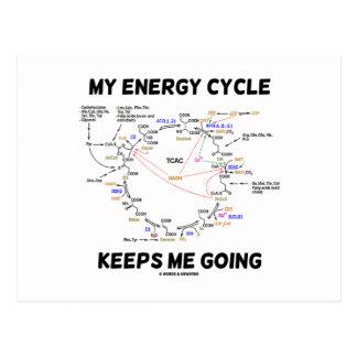 My Energy Cycle Keeps Me Going (Krebs Cycle) Postcard