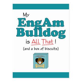 My EngAm Bulldog is All That! Postcard