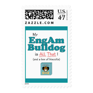 My EngAm Bulldog is All That! Stamp