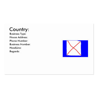 My england costum made flag, Country:, Business... Pack Of Standard Business Cards