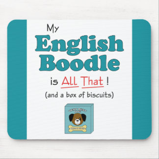 My English Boodle is All That! Mouse Pad