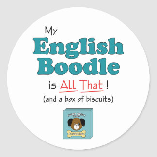 My English Boodle is All That! Stickers