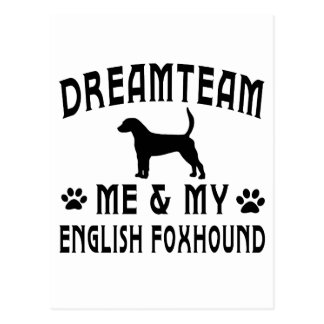 My English Foxhound Dog Postcard