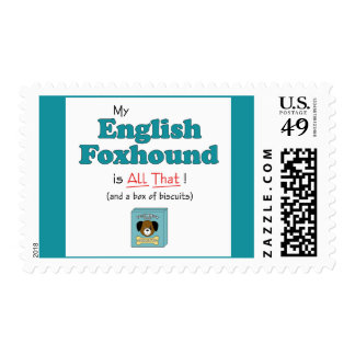 My English Foxhound is All That! Postage