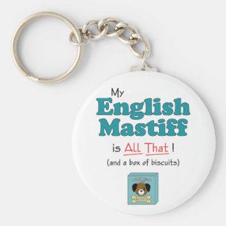 My English Mastiff is All That! Keychain