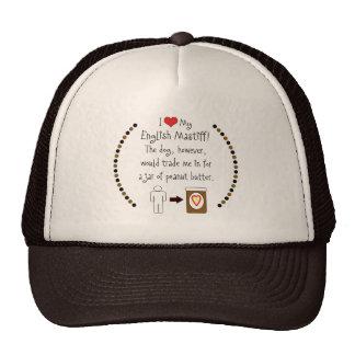 My English Mastiff Loves Peanut Butter Trucker Hat