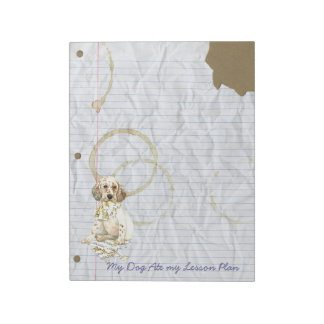 My English Setter Ate My Lesson Plan Notepad