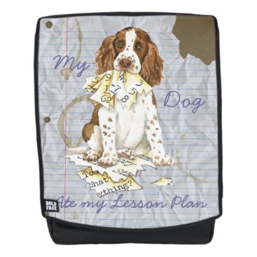 Beach Themed My English Springer Ate My Lesson Plan Backpack