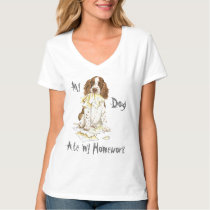 My English Springer Spaniel Ate My Homework T-Shirt
