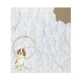 My English Springer Spaniel Ate My Lesson Plan Notepad