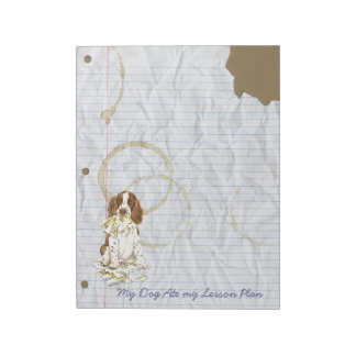 My English Springer Spaniel Ate My Lesson Plan Note Pad