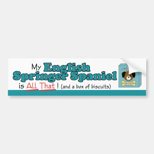 My English Springer Spaniel is All That! Bumper Stickers