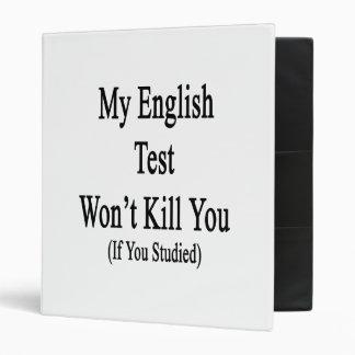 My English Test Won't Kill You If You Studied Vinyl Binders